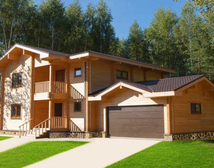 Дома поселка Лесные Озера