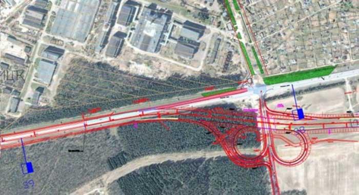 Схема реконструкции калужского шоссе